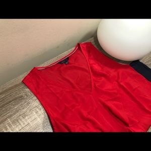 Tommy Hilfiger red and blue blouse